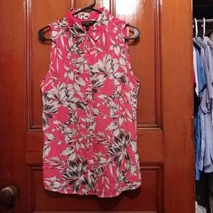 Banana Republic Factory Hot Pink Floral Sleeveless